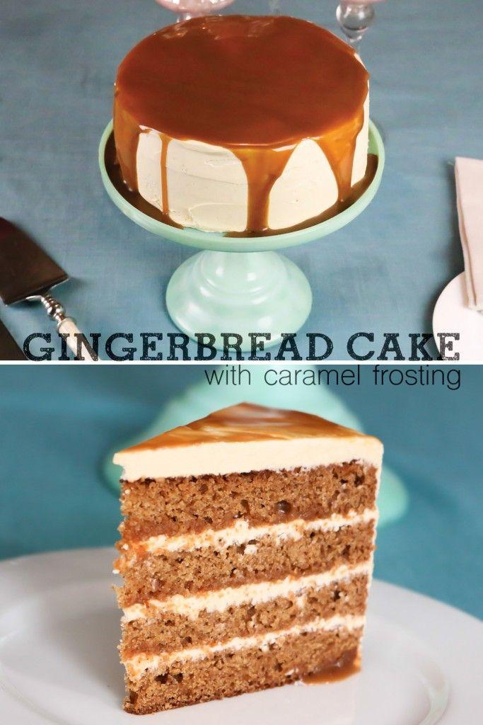 Hochzeit - Gingerbread Cake With Caramel Frosting