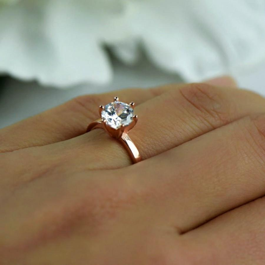 15 ct engagement ring 6 prong solitaire ring man made for 1 ct wedding ring