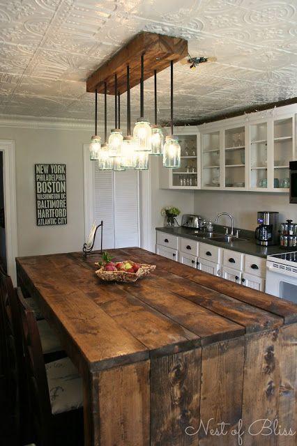HochzeitsThema 48 Rustic DIY Kitchen Island Ideas 48 Weddbook Interesting Kitchen Island Ideas
