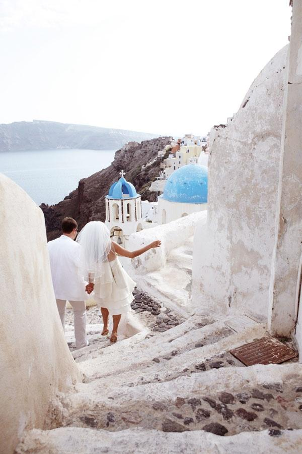 Свадьба - Just Married, Oia, Santorini