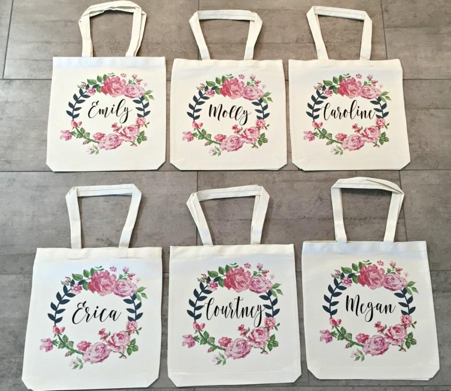 Mariage - Bridesmaid Totes (set of 6)