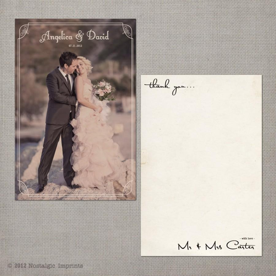 Wedding - Angelica - Vintage Wedding Thank You Cards