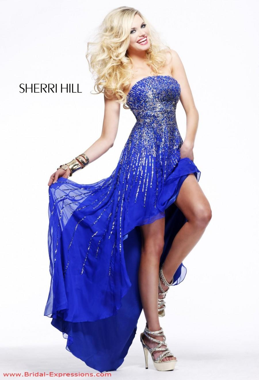 Sherri hill 8300 high low chiffon prom dress crazy sale for High low wedding dresses for sale