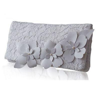 Свадьба - Astor Ivory Lace Clutch Bag (eg)