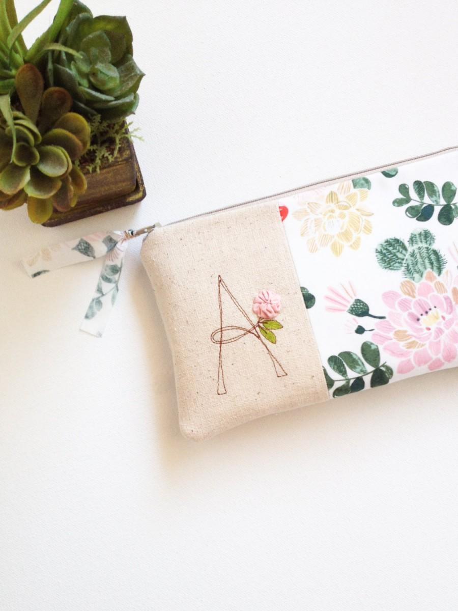 Mariage - Cactus Womens Clutch, Southwestern Wedding Clutch Purse, Monogram Clutch Bridesmaid Gift, Gift for Wedding Party MADE TO ORDER