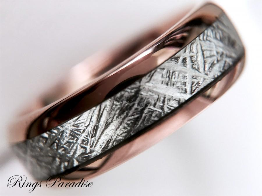 tungsten products dsc deer ring black band antler inlay fit rings engagement meteorite carbide comfort pch wedding with