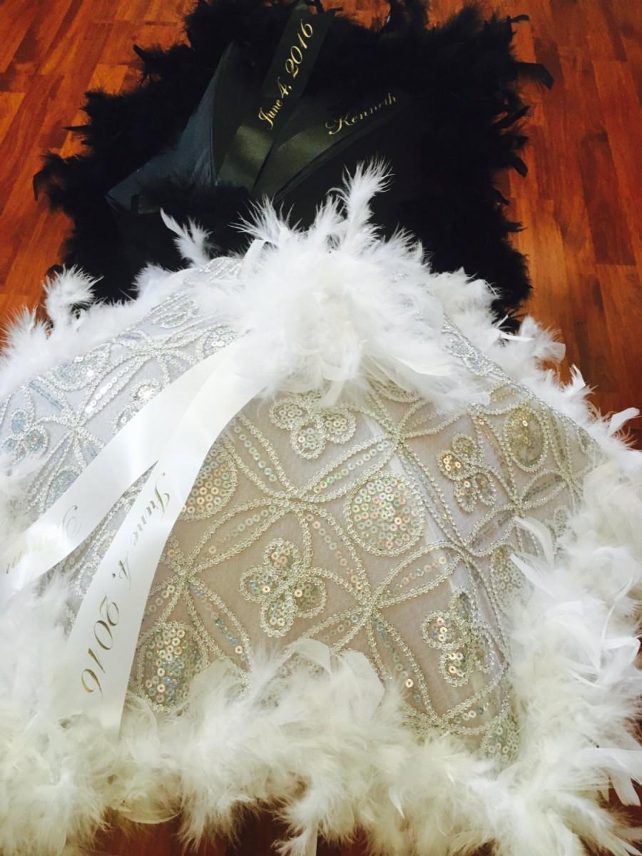 Mariage - Second Line Umbrellas Bride Groom, 2 second line parade umbrellas silver  BLING! Wedding umbrellas, personalized with ribbon, Parasol