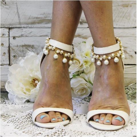 Mariage - ARIEL - pearl wedding ankle bracelet