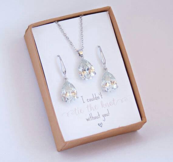 SET FOR 21Bridesmaid Jewelry SetBridesmaid GiftBridesmaid