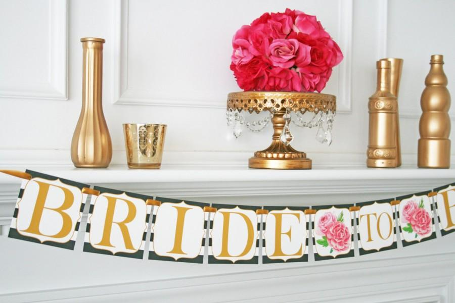 kate spade inspired bridal shower decoration bride to be banner bridal shower banner party kate spade decorations