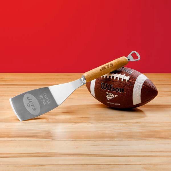 Wedding - Engraved NFL BBQ Spatula Bottle Opener