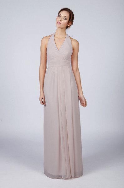 Mariage - Matchimony Silver Halterneck Long Bridesmaid/Prom Dress