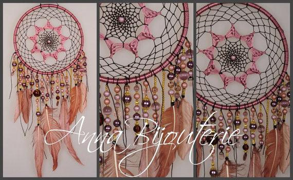 Düğün - Dreamcatcher cappuccino Dream Catcher Large Dreamcatcher Dream сatcher gift dreamcatcher boho dreamcatcher wall handmade gift idea beige