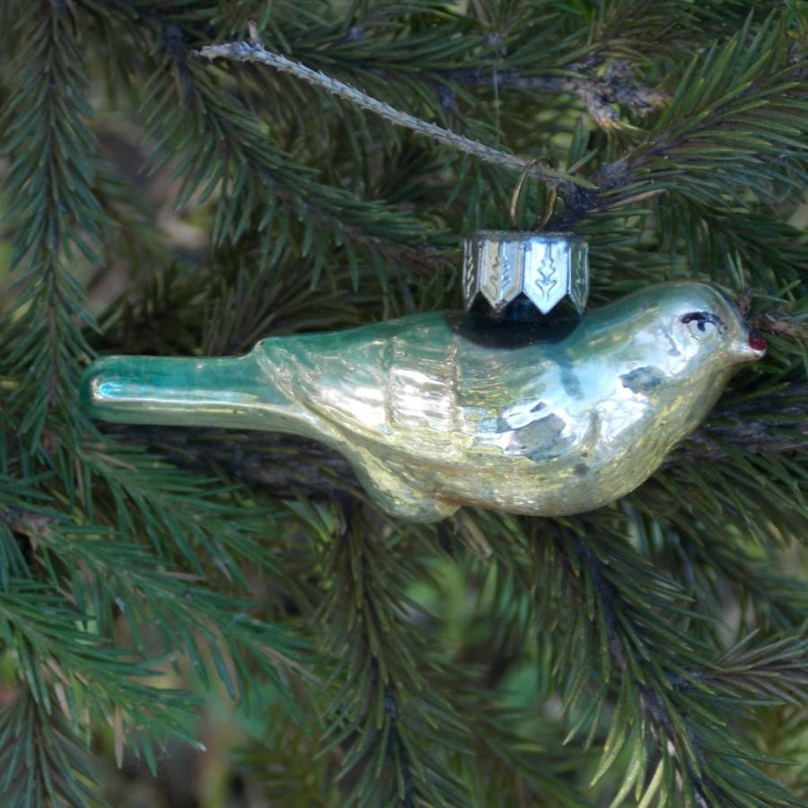 colorful bird christmas ornaments mercury glass bird hand painted soviet new year beautiful ornament holiday decoration antique decor toy - Bird Christmas Tree Decorations