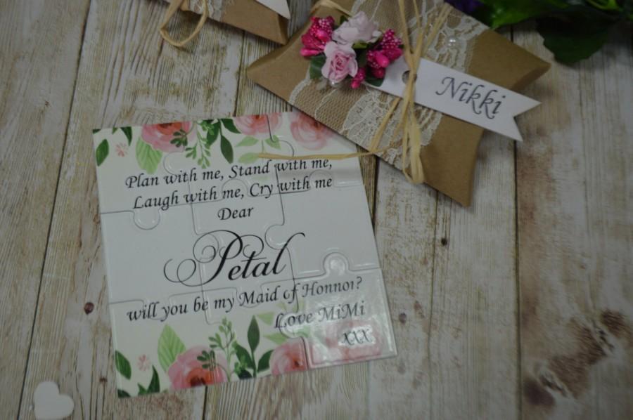 زفاف - Will You Be my bridesmaid, Puzzle , Save the date