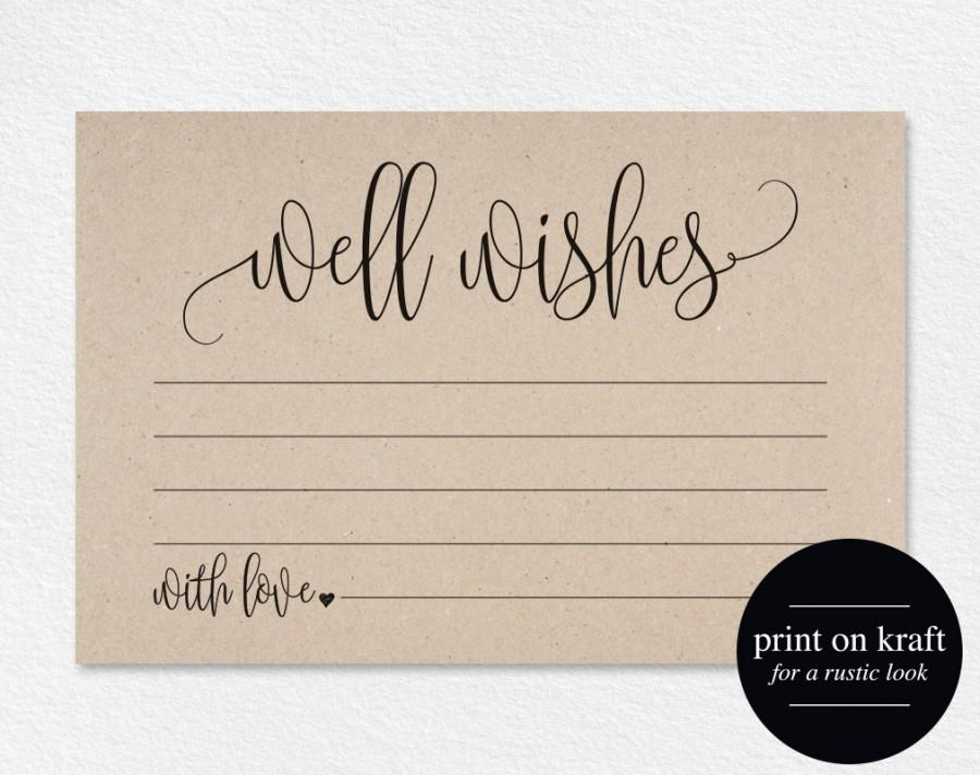 well wishes wedding advice cards well wishes card well wishes for baby wedding advice template pdf instant download