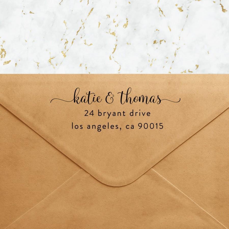 زفاف - Personalized Self Inking Return Address Stamp - Custom Address Stamp for Envelopes Stationary RSVPs