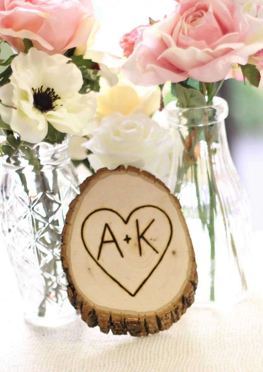 Mariage - Personalized Tree Slice Wedding Decoration Custom Wood Sign