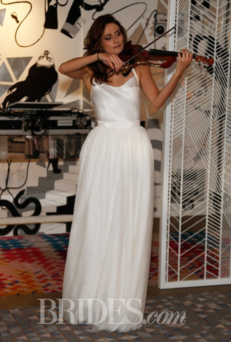 Wedding - Della Giovanna - Spring 2014 - Blair and Brooke Two-Piece A-Line Wedding Dress with Silk Bodice and Flowing Skirt - Stunning Cheap Wedding Dresses