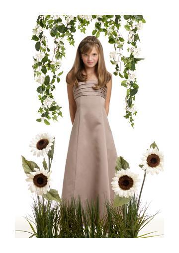 Wedding - Satin Strapless Ruched Sleeveless Floor Length