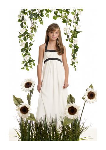Wedding - Halter Chiffon Ruched White Sleeveless Floor Length