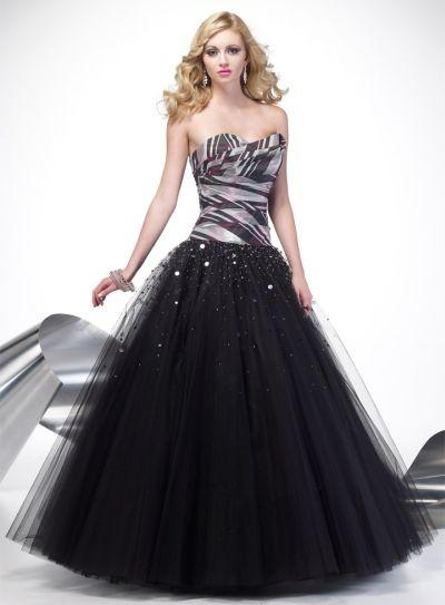 Plaid Taffeta And Tulle Ball Gown Alyce Designs Prom Dress 6592 ...