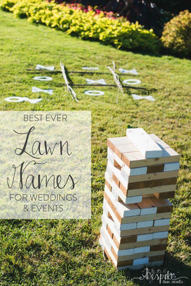 Свадьба - Feature Friday: Lawn Games - Bespoke Decor