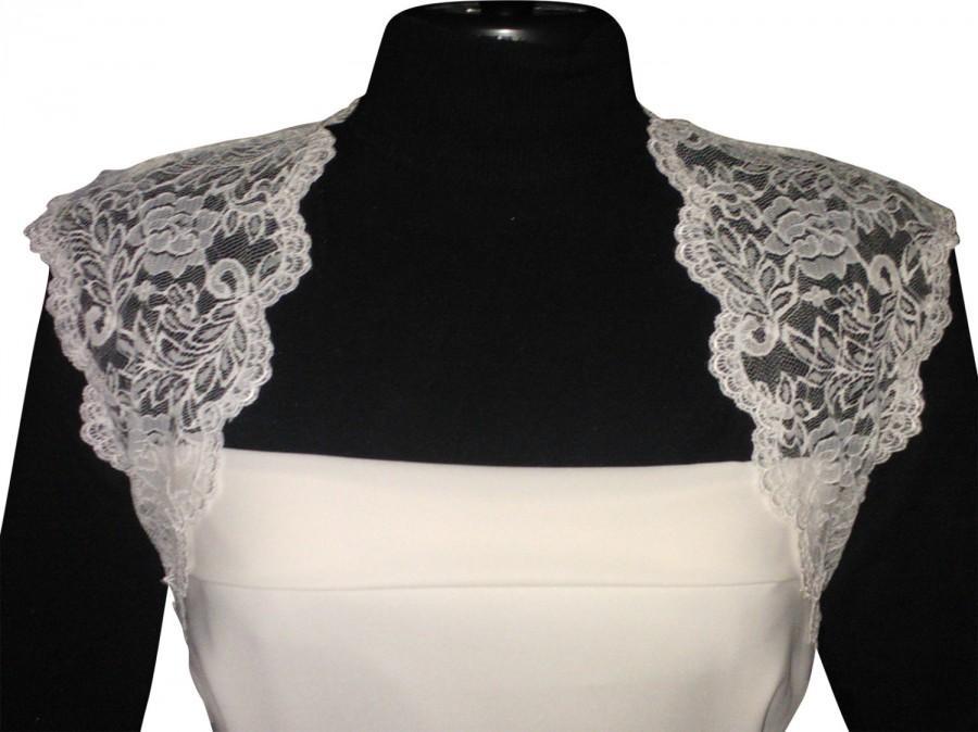 Mariage - Ladies Ivory  corded Lace Bolero/Shrug in sizes UK 8,10,12,14,16,& 18