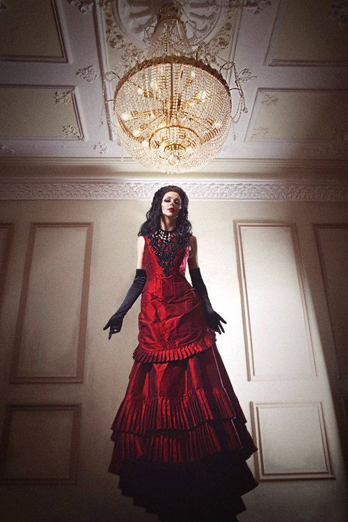 Silk Taffeta Gothic Victorian Bustle Gown Vampire Ball Masquerade