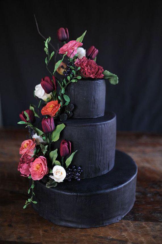 Gateau Black Wedding Cake Ideas 2571963 Weddbook