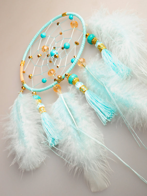 Свадьба - Dreamcatcher turquoise Dream Catcher Large Dreamcatcher Dream сatcher gift dreamcatcher turquoise boho dreamcatcher wall handmade gift idea