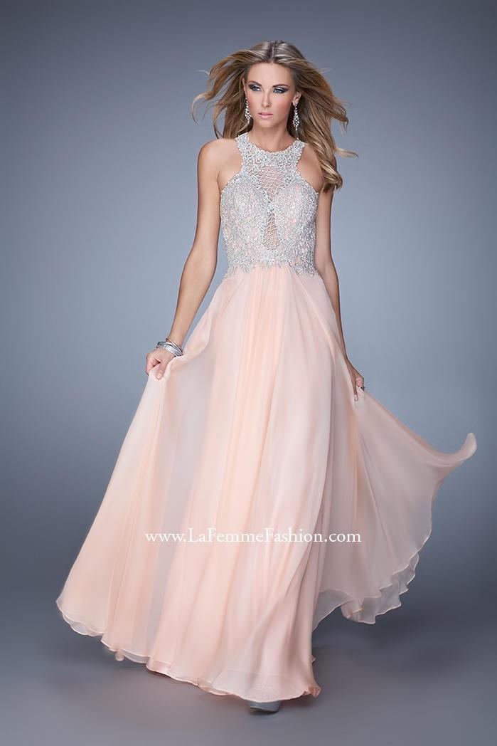 Hochzeit - La Femme 21349 Embroidered Chiffon Gown - Brand Prom Dresses