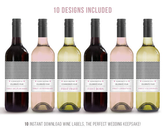 Wedding Gift Ideas For The Bride And Groom Wine Label Milestone