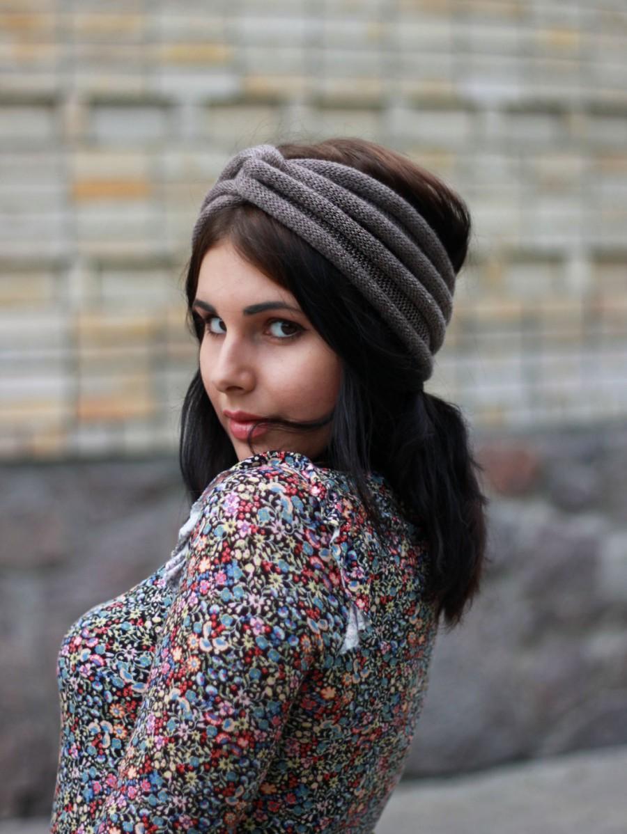 Knitted turban knit Turban Twist Headband Woman Mom Girlfriend Gift Ear  Warmer Fall Hair Band Knit Fashion Accessory Woman 9cd10daa44c