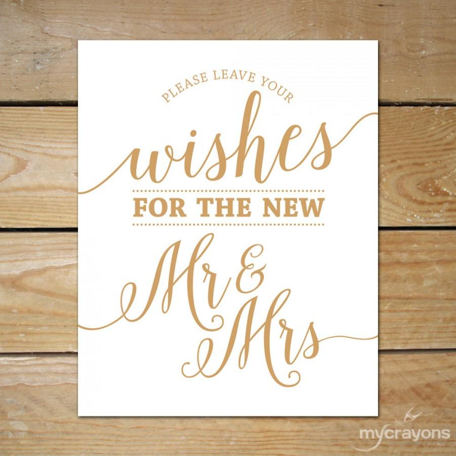 Please Leave Your Wishes For The New Mr Amp Mrs Sign