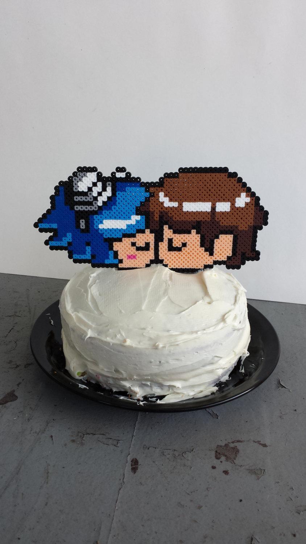 زفاف - Cake Topper - Wedding Cake Topper - 8 Bit Wedding Cake Topper - 8 Bit Cake Topper