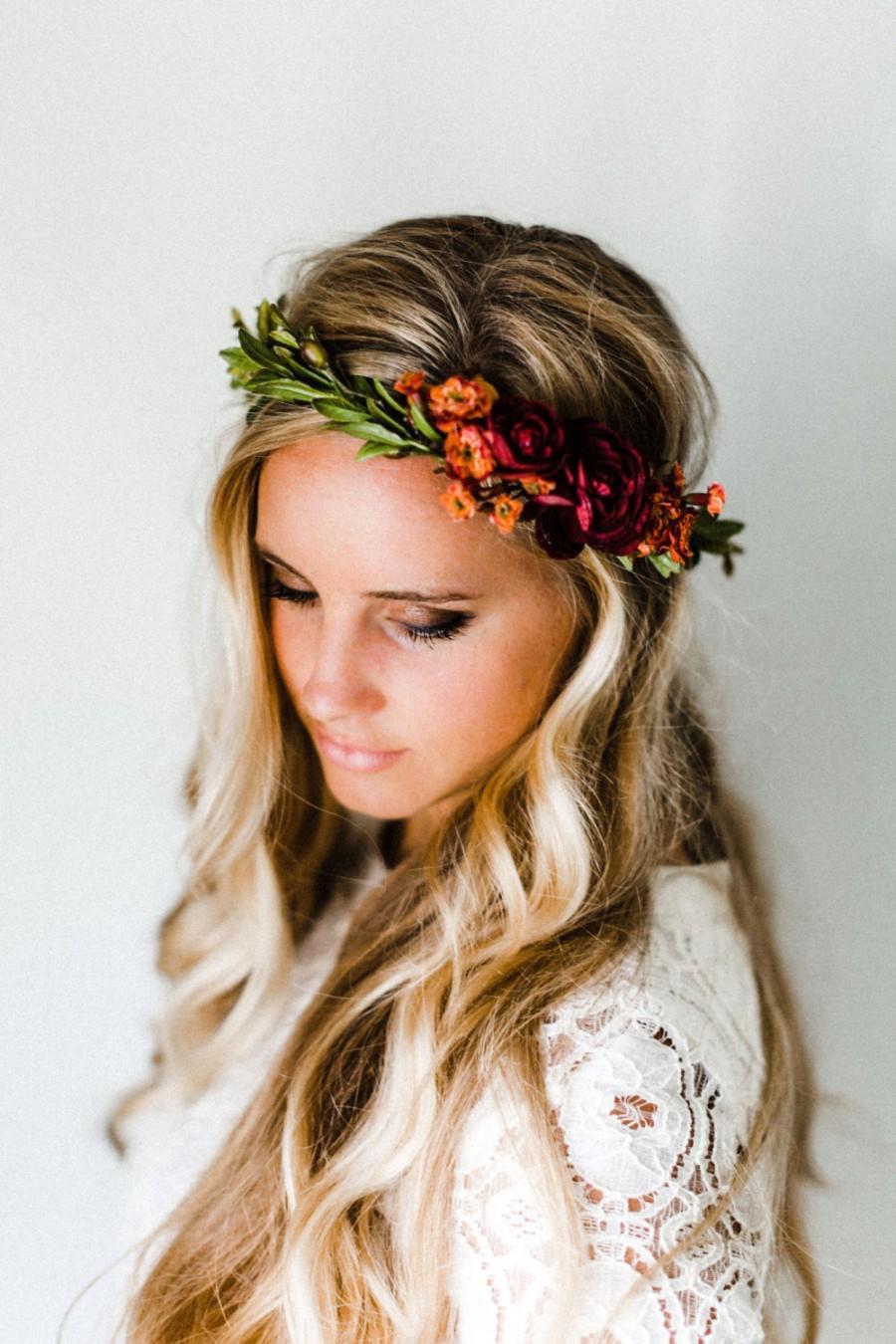 Hair Rustic Fall Flower Crown 2572245 Weddbook