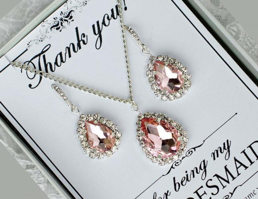 زفاف - blush earrings, blush drop earrings, blush bridesmaid earrings, blush bridesmaid, bridesmaid gift, bridesmaid jewelry, blush pink earrings
