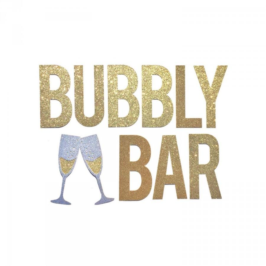 Bubbly Bar Banner Sign Bachelorette Decorations Banner