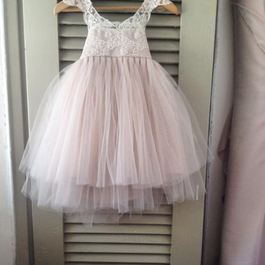 New Laces Magic Orchid French Lace And Silk Tulle Dress For Baby