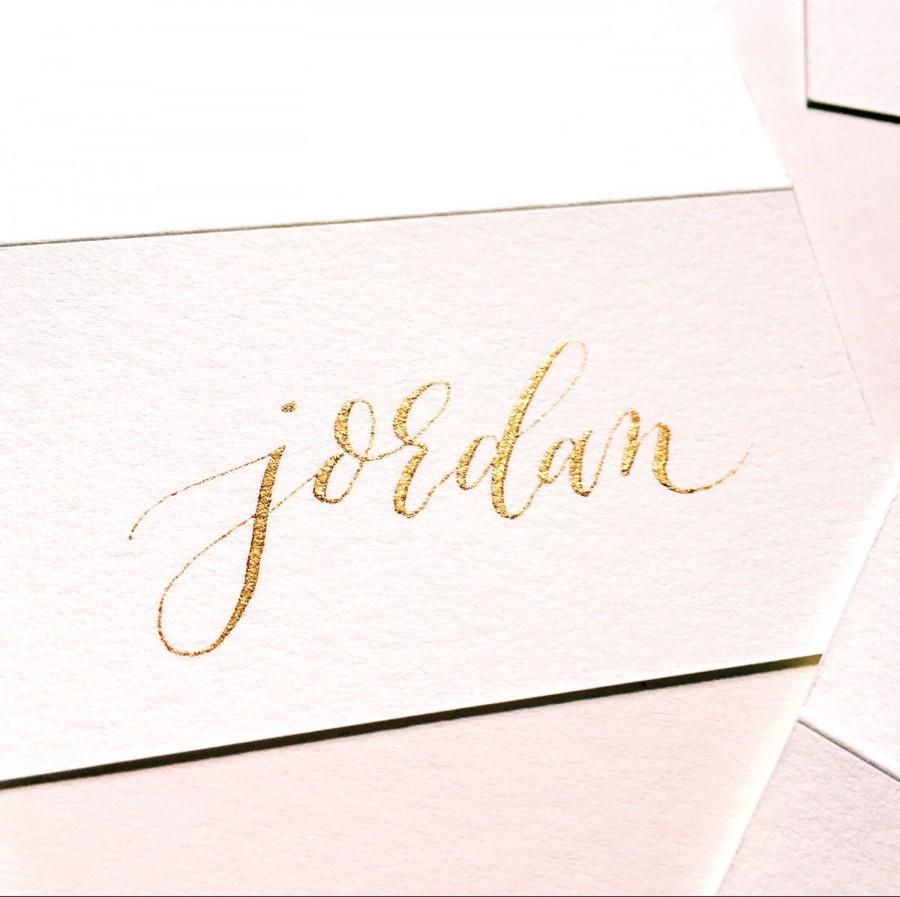 Calligraphy Place Cards Name Cards Made To Order
