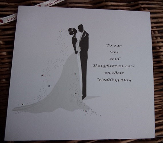 Свадьба - Wedding day card for Son and Daughter in Law, Personalised wedding card, wedding cards, wedding day card for son, thank you card