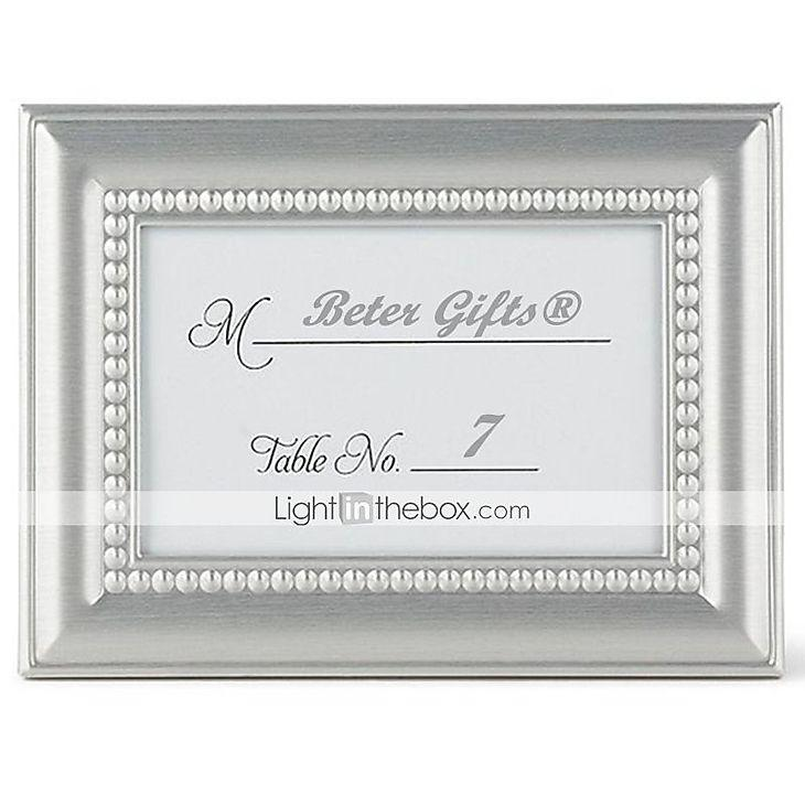 Hochzeit - Beter Gifts® 4 x 3 inch, 20th Wedding Anniversary Mini Photo Holder Favor / Place Card Holder Party Favors