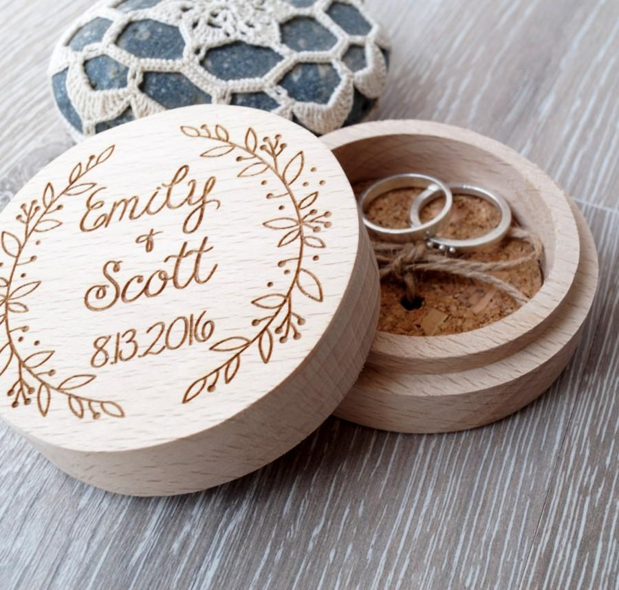 Personalized Ring Box Wooden Ring Box Wedding Ring Box Ring