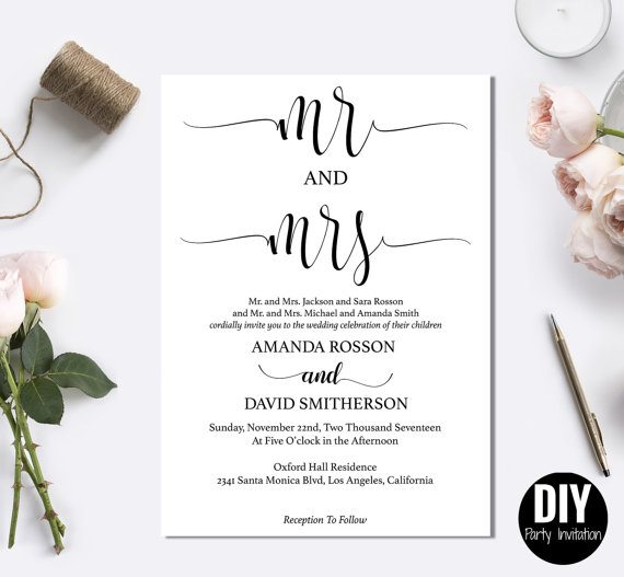 printable modern rustic invitation templates 2572675 weddbook