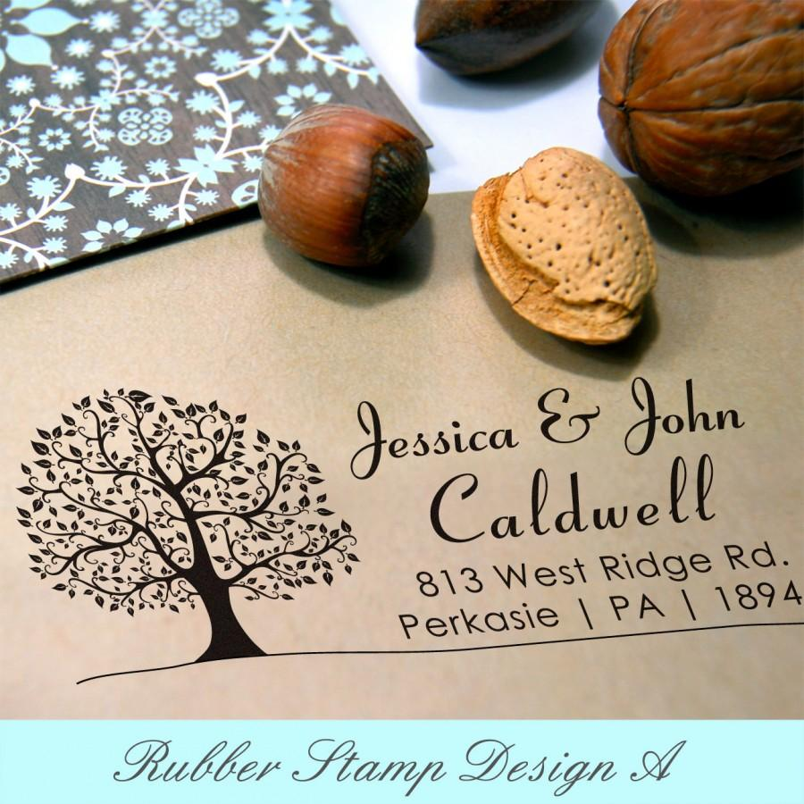 زفاف - Tree Personalized Stamp (Pre-inked Stamp) Custom Return Address, Thank You, Wedding, Save the date, Teacher Stamp, Gifts for him (P1015L)