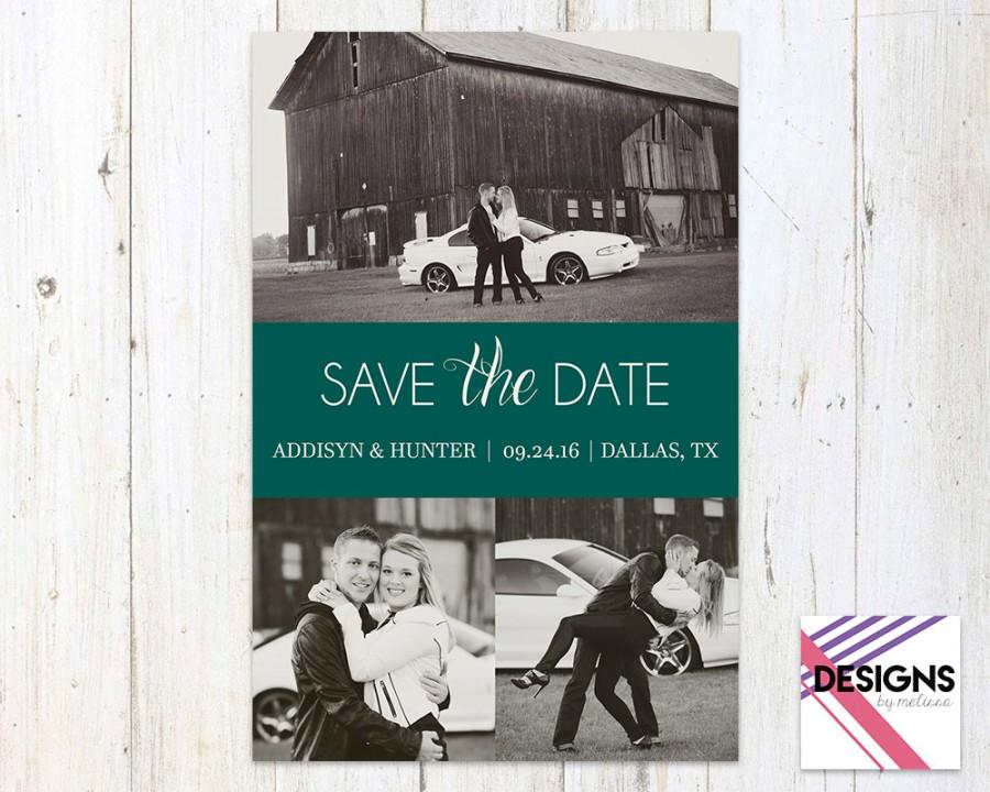 Mariage - Modern Save the Date - Customized Photo Save the Date - Wedding Engagement - Personalized Save the Date - DIGITAL FILE