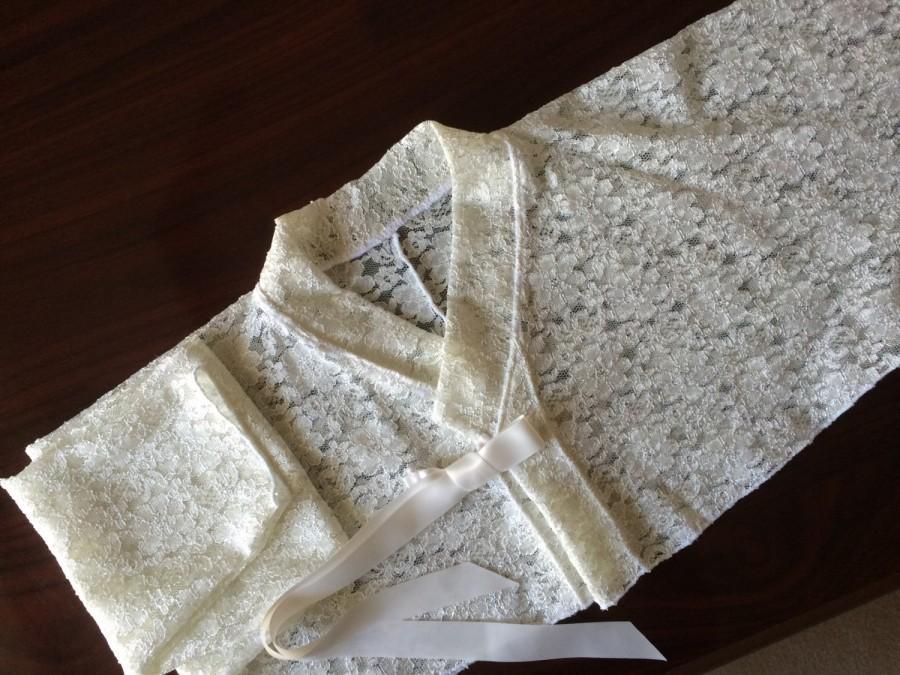 Mariage - Lace bridal jacket. Korean-style Hanbok jeogori. Stretch lace bolero for casual wedding.