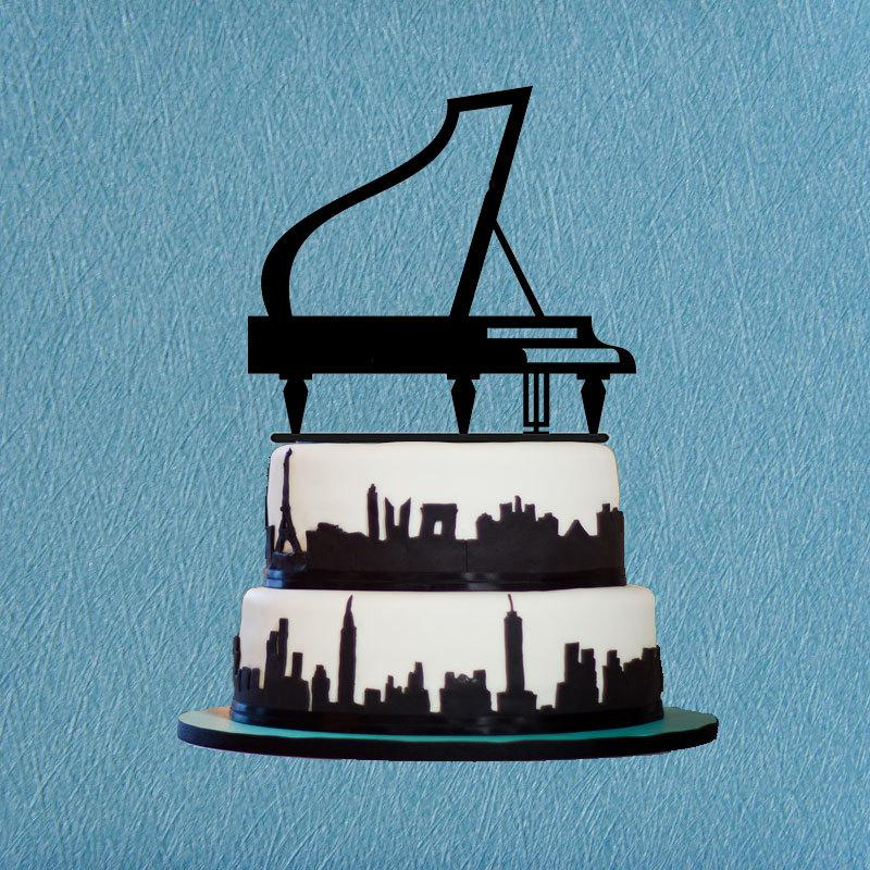 Piano Cake TopperInstrument Topper For Birthday Or PartyUnique GiftMusic