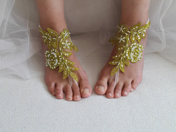 Wedding - bridal accessories, beads,lace,green wedding sandals, shoes, free shipping! Anklet,bridal sandals, bridesmaids, wedding gifts.......